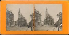 CARTE STEREOSCOPIQUE PARIS EGLISE SAINT-ETIENNE DU MONT VERS 1900