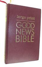 LARGE PRINT GOOD NEW BIBLE USED GOOD OVERALL CONDITION ENGLISH