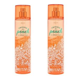2~Bath and Body Works GEORGIA  PEACH & SWEET TEA Fine Fragrance Mist ~ 8 fl.oz.