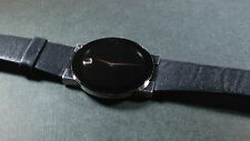 Movado Men's Museum Dial Watch 84 C6 877, pre-owned, leather band