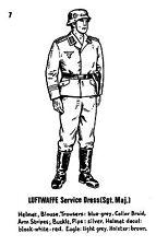 POSTCARD  MILITARY   Luftwaffe  Service  Dress  ( Sgt. Maj.)