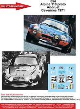 DÉCALS 1/43 réf 654 Renault Alpine 110 proto Andruet Cevennes 1971
