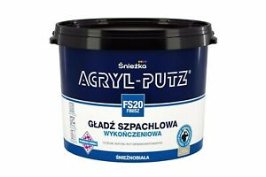 Sniezka Acryl-Putz Finish Ready-Mix Finish Plaster White 17kg High Quality