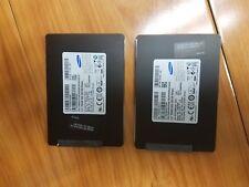 """2 Samsung 256GB 2.5"""" HDD SATA SSD MZ-7PD256M & MZ-7PD2560/0H7  256 GB"""