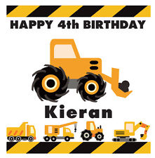 DIGGER / TRACTOR PERSONALISED BIRTHDAY CARD - JCB - TRUCK - SON - GRANDSON