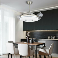 """42"""" Retractable Ceiling Fans with Lights Modern Remote Control Chandelier Lamps"""