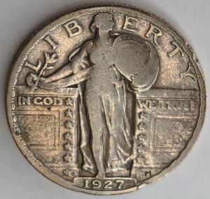 1927 - S - Standing Liberty Quarter - Key Date Coin - Cud Error
