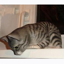 Kantenhocker, Regalkatze, Katze hängend Keramikkatze