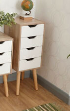 Vintage Retro Tallboy Small Wooden Cabinet Tall Chest Drawers Bedroom Furniture