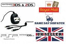 Cargador Para Nintendo 3 DS/DSL/XL y Sony PSP Multi Adaptador de enchufe de Reino Unido