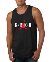 Air Goku Funny DBZ Mens Tank Top Graphic TV Inspired Dragon Ball Muscle Shirt