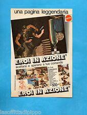 TOP975-PUBBLICITA'/ADVERTISING-1975- MATTEL - EROI IN AZIONE
