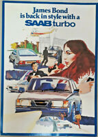 Saab 900 Turbo 007 James Bond Leaflet / Brochure & Photo, Circa 1982