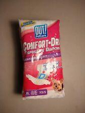 "Comfort-Dri Disposable Pet Diapers XS 13-18"" Waist 16 Count NEW!"