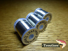 3 SPOOLS LEAD FREE ROUND WIRE - .015, .025 & .035 - NEW FLY TYING WEIGHT SPOOL