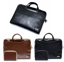"""11""""13""""15""""15.6"""" Pu Leather Laptop Handle Pouch Bag Carry Case For Macbook Lenovo"""