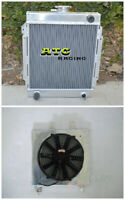 3 Row All aluminum radiator + Shroud + Fan Datsun 1200 manual MT