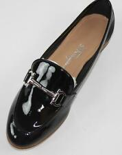 AUTH Salvatore Ferragamo Women My Informa Black Patent Leather Loafer Shoes 9.5M