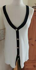 New ZARA fine Knit Button Vest Top Long Length M