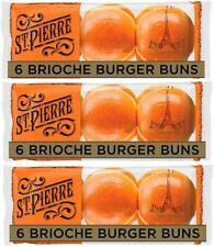 St Pierre Brioche Buns Pack of 3 (6 pc each)