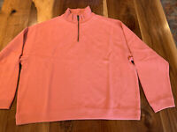 Women's Tommy Bahama Salmon Quarter Zip Pullover Size S