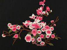 Sew on & iron on  patches(art of Magnolia flower- Pink)