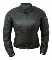Giacca giubbotto moto donna GIUDICI pelle pecora protezioni CE tipo BETAC nero