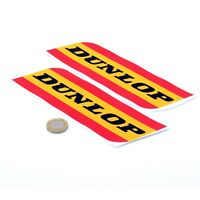 DUNLOP Logo Stickers Decals For Fork Front Mudguard X2 85mm x 70mm
