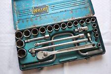 Hazet (kleines a) Ratschenkasten Knarrenkasten 1/2 Zoll 24 tlg 10-32mm VINTAGE
