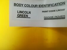 range rover classic body colour decal lincoln green