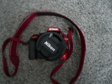 Nikon D3400 24.2MP Digital SLR Camera w/ 18-55mm Lens - Red