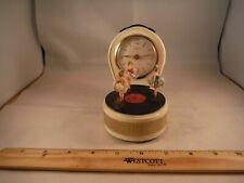 Vintage Scheffield/Reuge Spinning Ballerinas Record Player Clock & Music Box