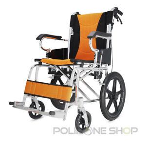 PRATIKA Sedia a rotelle in alluminio da transito pieghevole carrozzina per x