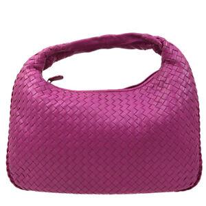 Bottega Veneta Intrecciato Hobo Hand Bag 115653 V0016 6262 Pink Leather 83773