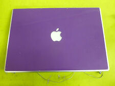 """APPLE POWER BOOK G4 15.2"""" # A1106 LCD SCREEN ASSEMBLY W/ HINGES & CABLES"""