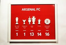 Arsenal fc Trophy Display  3d Frame Poster Wall Art Gift