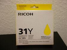 Original Ricoh 31Y Yellow Tintenpatrone MHD abgelaufen