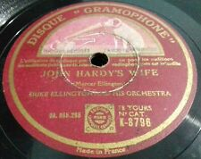 DUKE ELLINGTON- JOHN HARDY'S WIFE/ SEPIA PANORAMA- DISQUE GRAMOPHONE- N°8796