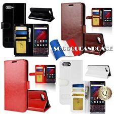 Etui folio housse coque Protection Cuir PU Leather Case pour BlackBerry KEY2 LE
