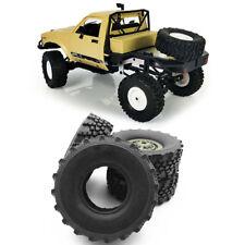 4Pcs Soft Rubber Tires Wheel for WPL B-14 B16 B36 B24 Military Truck 1/16 RC Car