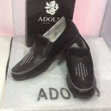 Adolfo Men's Casual Slip On Shoes Black Style S/Adam-1 Size 10.5 Driving Shoes