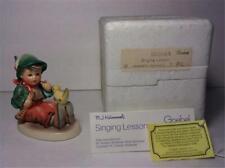 "New ListingHummel Goebel Figurine ""Singing Lesson"" - Boy Playing Flute with Bird - #63 Box"
