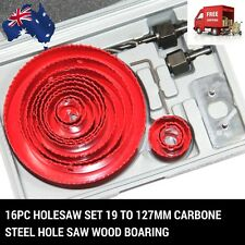 16PC Holesaw set 19 TO 127MM  Carbone steel Hole Saw Wood Boaring FM MELBOURNE