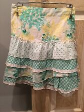 New Pumpkin Patch Skirt, SIZE 6, Girls, Green, White, Yellow, Floral Knee Length