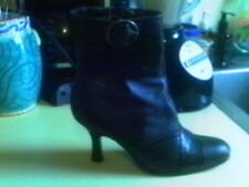 """PARADE BROWN LEATHER ANKLE BOOTS 8 M  3.5"""" HEELS"""