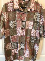 Kahala 1936 Men's Hawaiian Shirt Size Tribal Design Cotton USA Surf Camp Size XL
