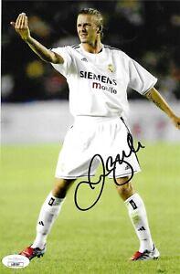 David Beckham Autographed 6 1/2x10 Photo JSA COA MLS England Manchester Soccer