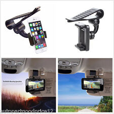 Car Sun Cover Clip Holder Mount Stand for iPhone 6/6S Plus/7 Plus Samsung Galaxy