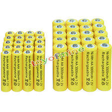 20 AA 3000mAh + 20 AAA 1800mAh battery Bulk Nickel Hydride Rechargeable 1.2V Yel