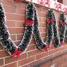 2M Christmas Tinsel Garland Luscious Xmas Snow Tips Holly Dark Green&White JP